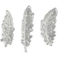 Die Cut and Embossing Folder, feather, size 47x48 mm, 1 pc