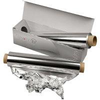 Aluminium Foil, W: 30 cm, thickness 11 my, 150 m/ 1 roll