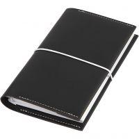 Planner, size 10x18x1,5 cm, elastic closure, black, 1 pc