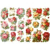 Vintage Die-Cuts, rose assortment, 16,5x23,5 cm, 2 sheet/ 1 pack
