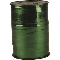 Curling Ribbon, W: 10 mm, glossy, metallic green, 250 m/ 1 roll