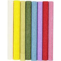 Crepe Paper, 25x60 cm, Crêpe ratio: 180%, 105 g, standard colours, 8 sheet/ 1 pack