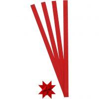 Paper Star Strips, L: 45 cm, D: 4,5 cm, W: 10 mm, red, 100 strips/ 1 pack