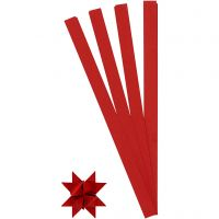 Paper Star Strips, L: 45 cm, D: 6,5 cm, W: 15 mm, red, 100 strips/ 1 pack