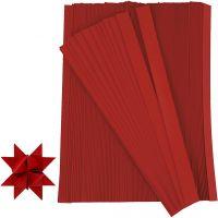 Paper Star Strips, L: 45 cm, W: 15 mm, D: 6,5 cm, red, 500 strips/ 1 pack