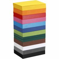Coloured Card, A6, 105x148 mm, 180 g, assorted colours, 12x100 sheet/ 1 pack