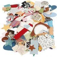 Handmade Paper die-cut, size 25-130 mm, 110 g, 100 g/ 1 pack
