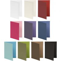 Cards, card size 10,5x15 cm, Content may vary , 250 g, assorted colours, 30 pack/ 1 pack