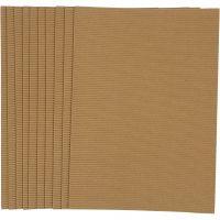 Corrugated Card, 25x35 cm, 120 g, 10 sheet/ 1 pack