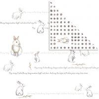 Design Paper, bunny, 30,5x30,5 cm, 180 g, 5 sheet/ 1 pack