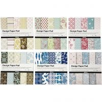 Design Paper Pad, 15,2x15,2 cm, 120 g, assorted colours, 300 sheet/ 1 pack