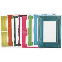 Frames, size 26,2x18,5 cm, bold colours, 16 ass sheets/ 1 pack