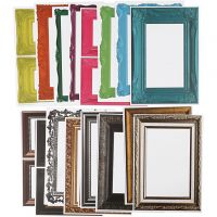 Frames, size 26,2x18,5 cm, assorted colours, 64 ass sheets/ 1 pack