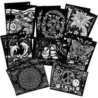 Velvet pictures, size 25x19 cm, 16 pc/ 1 pack