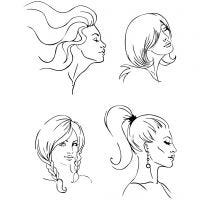 Clear Stamps, hairstyle, 11x15,5 cm, 1 sheet