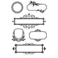 Clear Stamps, frames with ornaments, 11x15,5 cm, 1 sheet