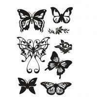 Clear Stamps, butterflies, 11x15,5 cm, 1 sheet