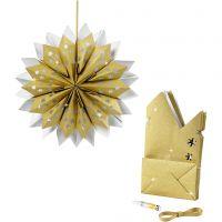 Paper Bag Star, 170 g, gold, 1 set