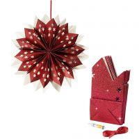 Paper Bag Star, 200 g, red, 1 set