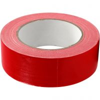 Duct Tape, W: 38 mm, red, 25 m/ 1 roll