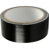 Duct Tape, W: 38 mm, black, 25 m/ 1 roll