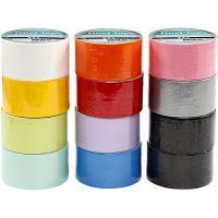 Duct Tape, W: 48 mm, assorted colours, 12x5 m/ 1 pack