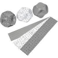 Click Ornaments, D: 9 cm, size 5,5x28,4 cm, 9 set/ 1 pack