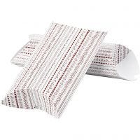 Pillow box, doodles, size 23,9x15x6 cm, 300 g, red, 3 pc/ 1 pack