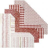 Origami Paper, size 15x15 cm, 80 g, red, 40 sheet/ 1 pack
