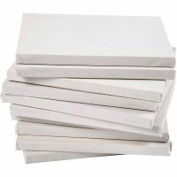 Stretched Canvas, depth 1,6 cm, A2, size 42x60 cm, 280 g, white, 20 pc/ 1 pack