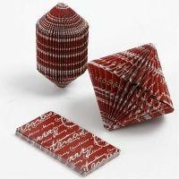 Book Folding, size 4,5x9 cm, 80 g, 6 pc/ 1 pack