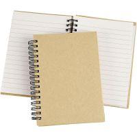 Spiral Bound Notebook, A6, 60 g, brown, 1 pc