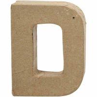Letter, D, H: 10 cm, W: 7,7 cm, thickness 1,7 cm, 1 pc