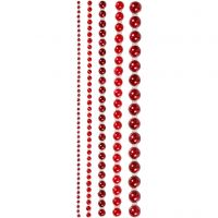 Half Pearls, size 2-8 mm, red, 140 pc/ 1 pack