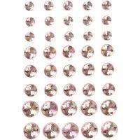 Rhinestones, size 6+8+10 mm, pink, 40 pc/ 1 pack