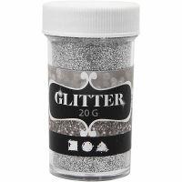 Glitter, silver, 20 g/ 1 tub