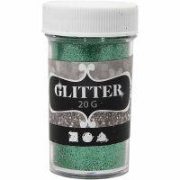 Glitter, green, 20 g/ 1 tub