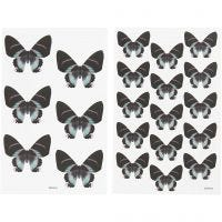 Stickers, 9x14 cm, size 4x3,5 cm, 4 ass sheets/ 1 pack