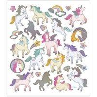 Stickers, unicorns, 15x16,5 cm, 1 sheet