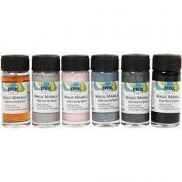 Magic Marble , mute colours, 6x20 ml/ 1 pack