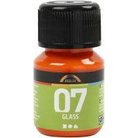 A-Color Glass Paint, orange, 30 ml/ 1 bottle