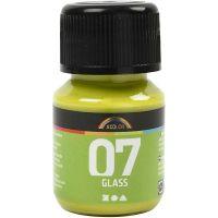 A-Color Glass Paint, kiwi, 30 ml/ 1 bottle