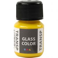 Glass Color Transparent, lemon yellow, 30 ml/ 1 bottle
