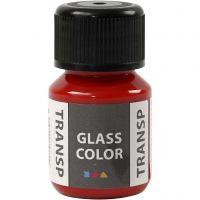Glass Color Transparent, red, 30 ml/ 1 bottle