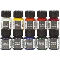 Glass Color Transparent, assorted colours, 10x30 ml/ 1 pack