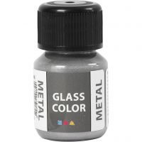 Glass Color Metal, silver, 30 ml/ 1 bottle