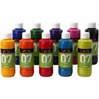 A-Color Glass Paint, assorted colours, 10x250 ml/ 1 box