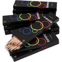 School pencil, hardness HB, No lacquer, 12x12 pc/ 1 pack