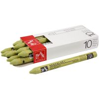 Neocolor I Crayons, L: 10 cm, thickness 8 mm, light olive (245), 10 pc/ 1 pack