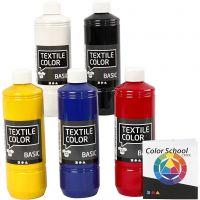 Textile Color Paint, primary colours, 5x500 ml/ 1 pack